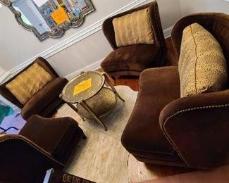 Four Precedent custom lounge chairs $450 each