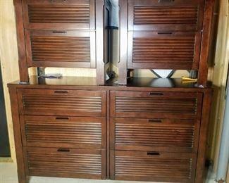 Three Piece Nightstand and Dresser: $350.00