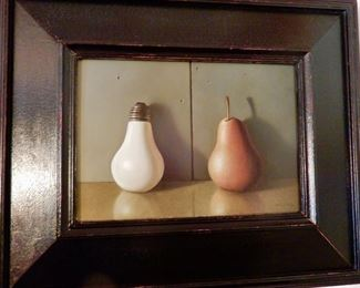 "Noted Artist Jacob Pfeiffer's oil painting""Bulbous"" $875.00"
