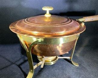 vintage copper chaffing dish