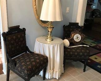 Pair Victorian Chairs