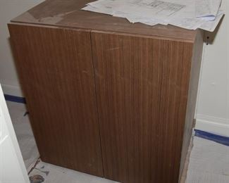 """$400. Originally cost $2,400 for this brand new elegant cabinet from J and J Cabinets with marine grade finished top to accommodate bowl sink. Too deep for bathroom it was intended to go in so must be sold! 31.5"""" wide x 21"""" deep x 34"""" tall. Ignore dust from ongoing construction!"""