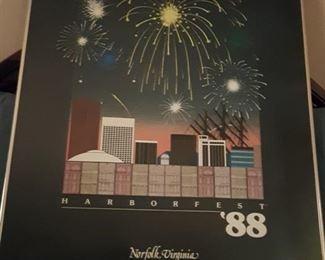 1988 Harborfest Poster (222/500 by Larry Branham)