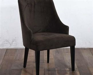 Contemporary Brown Upholstered Accent Chair