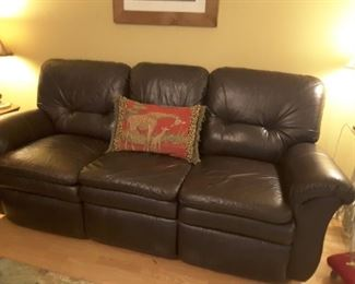Leather sofa in great condition, reclines on each end