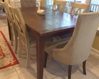 Beautiful farmhouse style table.