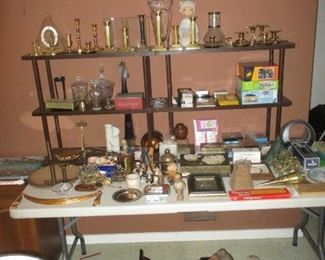 Household and brass items