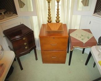 Cabinets and tables