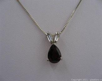 Beautiful Garnet and CZ Necklace