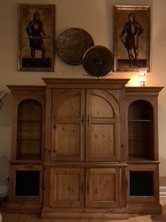 this is 3 seperate pieces, you can just use the middle piece and/or put the two side pieces in other area of your home!