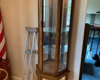 #13Octagonal Front Display Cabinet w/2 doors & Lighted   19Wx10Dx71T $65.00