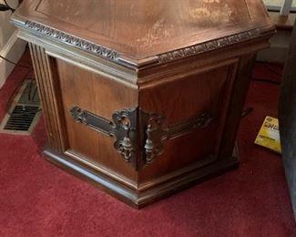 #18Octagonal End Table w/2 doors (as is top)  26x20  (2)   $30 each $60.00