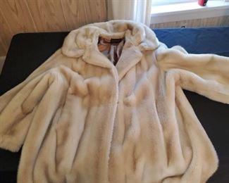 Ladies size 16, not real fur, vintage coat