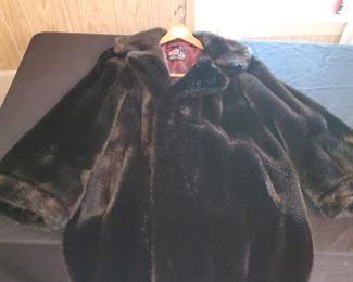 Not real fur, ladies size LG