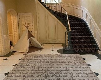 NOT EVERYONE HAS A TEPEE  IN THEIR FOYER
