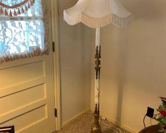 Tall Alabaster floor lamp