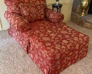 Corinthian Furniture Oversized chair with ottoman