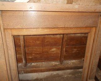 Solid oak mantle