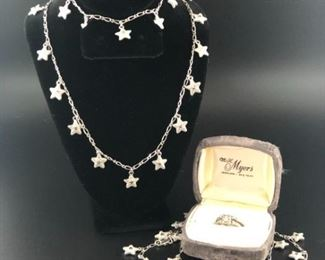 A Starry Wedding Ring, Wedding, Necklace