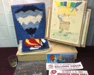 Albuquerque Art Hot Air Balloons, Patch, Glass, Calendar, Cross Stitch