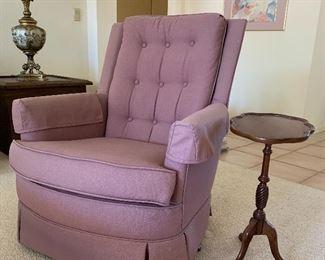 Arm Chair, Pedestal Side Table