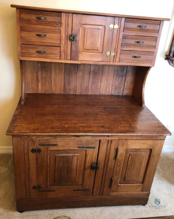 Vintage Bakers Cabinet