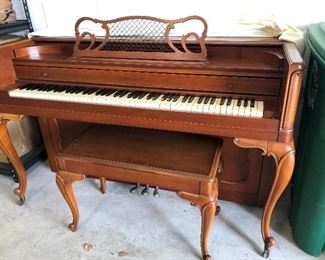Piano and piano bench