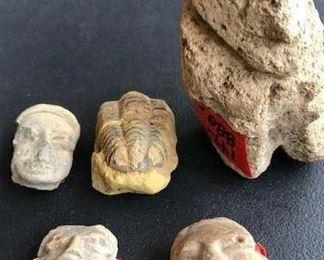 Ancient figurine heads