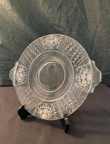 WCT006 - CRYSTAL PLATE WITH STERLING SILVER OVERLAY