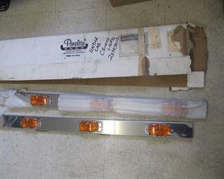 "New Chrome 48""  AMBER Running lights AKA Chicken Lights  set of 2 Lights old stock"