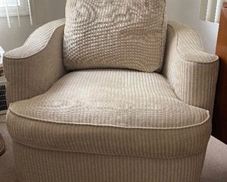 Arm chair (swivel) brocade fabric