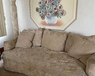 Brocade couch