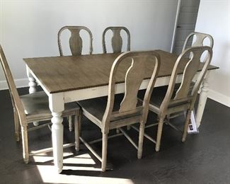 Pottery Barn Faye Dining Table, 6 Mabry chairs $975