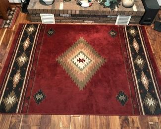 Oriental rug by Hudson, 5ft 3in X 7ft 6in.