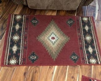 Oriental rug by Hudson, 1ft 10in X 3ft 3in.  Two of these rugs to be sold.