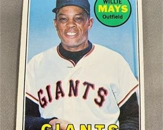 Lot 022 1969 Topps Willie Mays Card.   https://www.bidrustbelt.com/Event/LotDetails/118856433/1969-Topps-Willie-Mays-Card