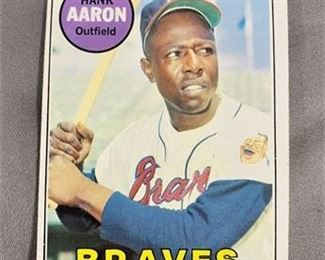 Lot 059 1969 Topps Hank Aaron Card.   https://www.bidrustbelt.com/Event/LotDetails/118857377/1969-Topps-Hank-Aaron-Card