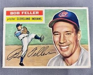 Lot 095 1956 Topps Bob Feller Card.    https://www.bidrustbelt.com/Event/LotDetails/118858100/1956-Topps-Bob-Feller-Card.