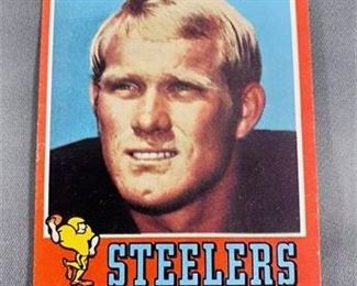 Lot 213 1971 Topps Terry Bradshaw Card.    https://www.bidrustbelt.com/Event/LotDetails/118862187/1971-Topps-Terry-Bradshaw-Card