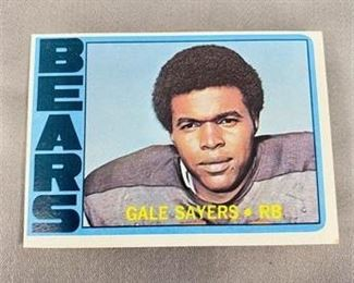 Lot 234 1072 Topps Gale Sayers Card.    https://www.bidrustbelt.com/Event/LotDetails/118862609/1072-Topps-Gale-Sayers-Card