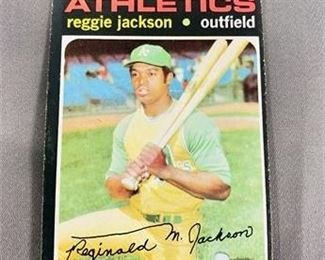 Lot 036 1971 Topps Reggie Jackson Card