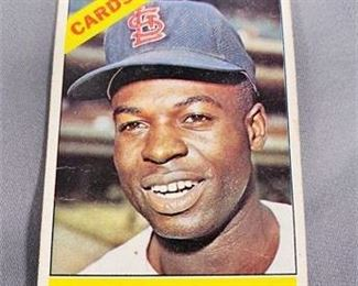 Lot 030 1966 Topps Lou Brock Card