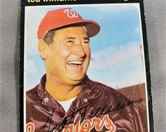 Lot 034 1971 Topps Ted Williams Card