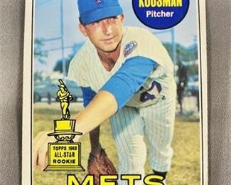 Lot 093 1969 Topps Jerry Koosman Card