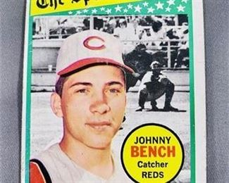 Lot 100 1969 Topps Johnny Bench Card