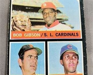 Lot 231 1971 Topps Bob Gibson Gaylord Perry Card