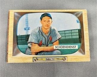 Lot 225 1955 Bowman Red Shoendenist Card