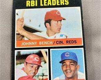 Lot 240 1971 Topps Johnny Bench Card