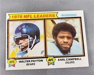 Lot 208 1979 Topps Walter Payton Earl Campbell Card