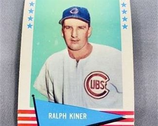 Lot 195 1961 Fleer Ralph Kiner Card